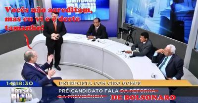 Ciro entrevistado e o assunto é Bolsonaro